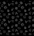 real estate dark seamless pattern vector image