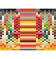 rectangle rainbow pixel background vector image vector image
