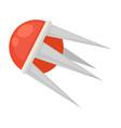 Red futuristic satellite