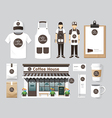 restaurant cafe set shop front design flyer menu vector image vector image