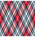 rhombic tartan seamless texture in red and light vector image vector image