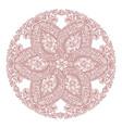 round floral mandala vector image vector image