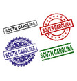 scratched textured south carolina stamp seals vector image