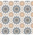 seamless hand drawn mandala pattern vintage vector image vector image