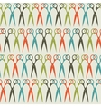 Seamless scissors pattern in vintage colors vector image