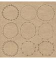 Set of decorative wreaths doodle Nine vector image