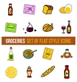set of grocery food vector image