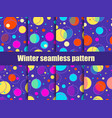 set of seamless patterns in memphis style with vector image vector image