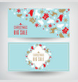 set two christmas sale banners vector image