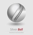 Silver ball elegant icon vector image vector image