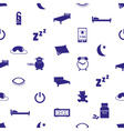 sleeping time blue icons seamless pattern eps10 vector image vector image