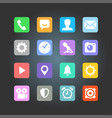 smartphone application icons vector image vector image