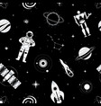 space exploration - flat design style pattern vector image