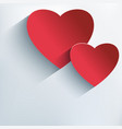 Stylish Valentine background with 3d red heart vector image vector image