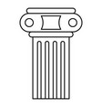 temple pillar icon outline style vector image vector image