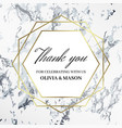 thank you design template celebrating with names vector image vector image