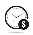 time is money icon with shadow vector image vector image