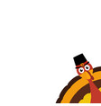 turkey pilgrimin on thanksgiving day vector image