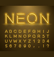 vintage neon font vector image vector image