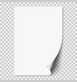 white realistic paper page vector image vector image