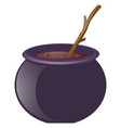 witches brew and wooden stick vector image vector image