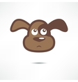 Sad dog vector image