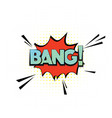bang cloud in pop art style cool colorful vector image
