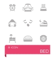 Bed icon set vector image