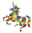 Geometric Horse vector image