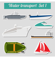 Set of water transport icon for creating your own vector image
