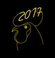 zodiac gold rooster new year symbol vector image