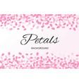 pink flying petals background vector image