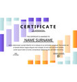 abstract certificate design vector image