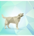 abstract dog from triangles vector image