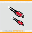 Athlete Trampoline Gymnast vector image
