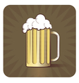 Beer Engraved vector image vector image