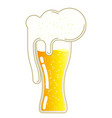 beer with foam in a glass vector image