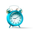 blue colored alarm clock vector image vector image