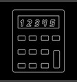 calculator the white path icon vector image vector image