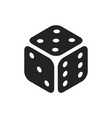 casino dice in isometric view simple black icon on vector image vector image