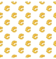 Cent currency symbol pattern cartoon style vector image vector image