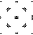 chinese pattern seamless black vector image vector image
