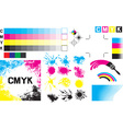 CMYK Concept Set vector image vector image