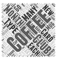 coffee of the month clubs Word Cloud Concept vector image vector image