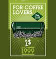color vintage cafe banner vector image vector image