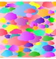Colored Clouds Pattern vector image vector image