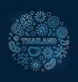coronavirus in thailand circular blue vector image vector image