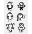 cupids and angels vector image