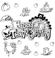 Doodle art happy thanksgiving vector image vector image