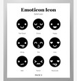 emoticon icons solid pack vector image vector image